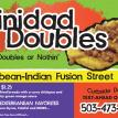 Trinidad Doubles Mobile Food Cart Sign